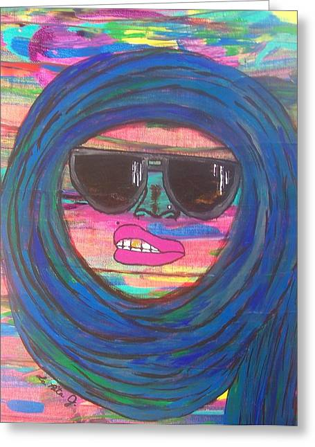 Ain't Even Worried About It Greeting Card by LaRita Dixon