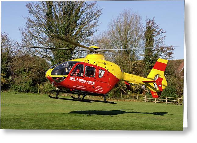 Air Ambulance Helicopter Greeting Card by Sheila Terry