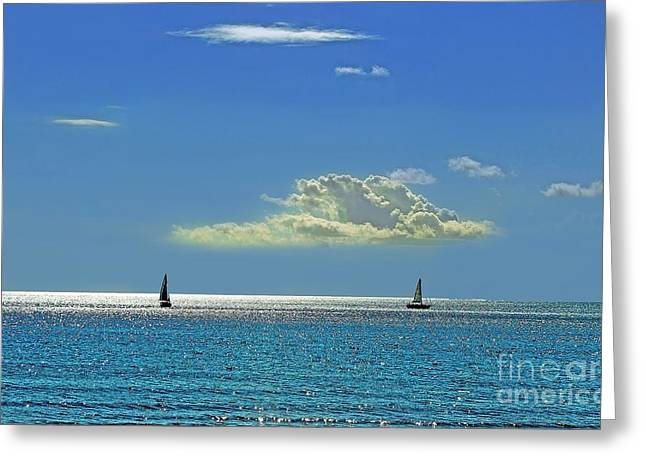 Greeting Card featuring the photograph Air Beautiful Beauty Blue Calm Cloud Cloudy Day by Paul Fearn