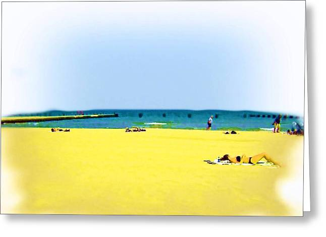 Air Brushed Lakeshores Greeting Card