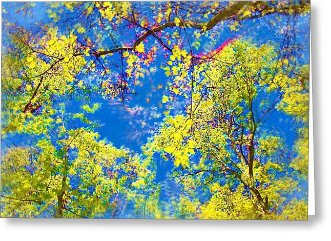 Air Brushed Spring Trees Greeting Card