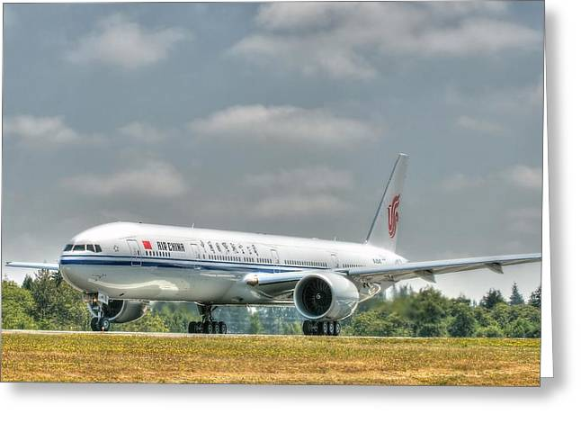 Air China 777 Greeting Card by Jeff Cook