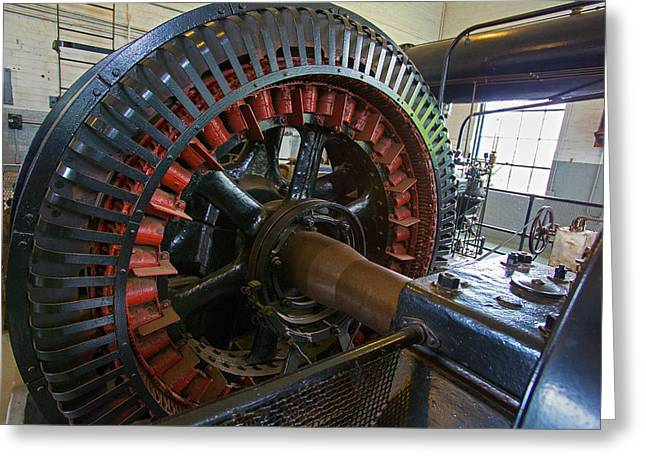 Air Compressor At An Iron Ore Mine Greeting Card by Jim West