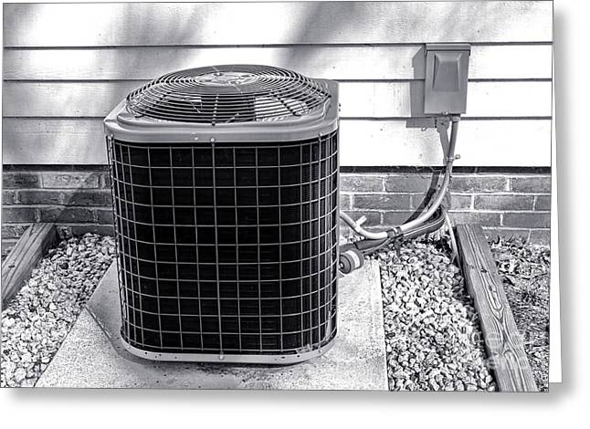 Air Conditioner Fan Greeting Card by Olivier Le Queinec