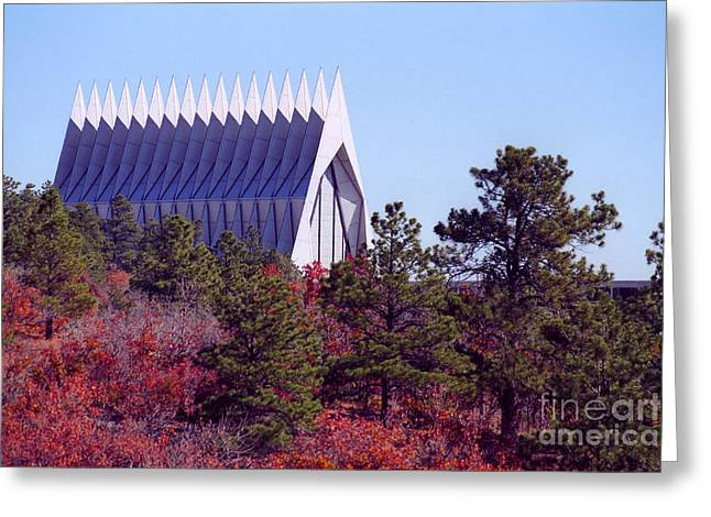 Air Force Academy Chapel In Autumn Greeting Card