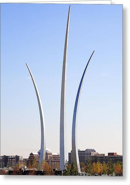 Air Force Memorial In Arlington Virginia Greeting Card