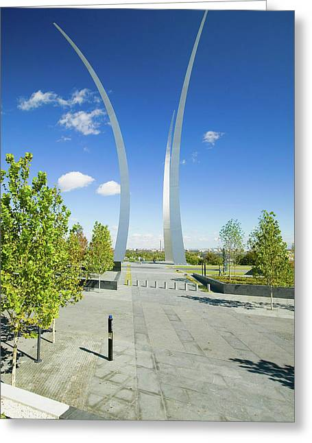 Air Force Memorial With Three Soaring Greeting Card