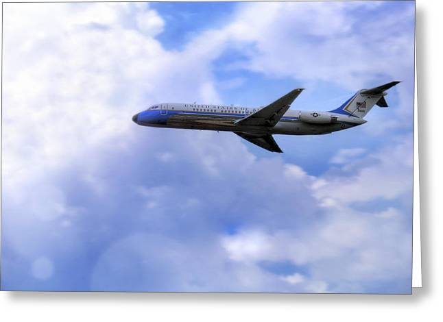 Air Force One - Mcdonnell Douglas - Dc-9 Greeting Card
