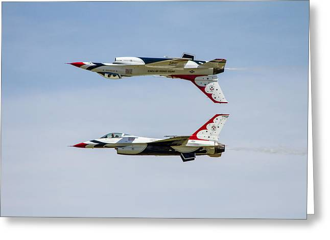 Air Force Thunderbirds Greeting Card by Bill Gallagher