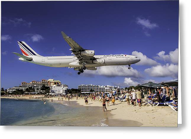 Air France St. Maarten Landing Greeting Card