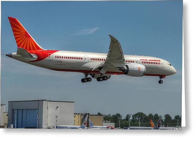 Air India 787 Greeting Card by Jeff Cook