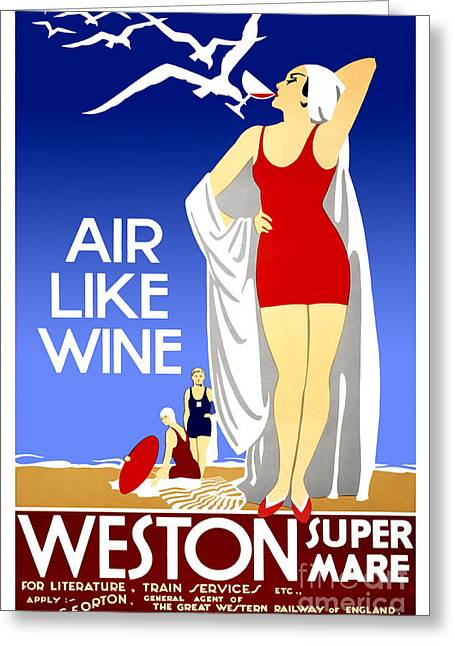 Air Like Wine Greeting Card