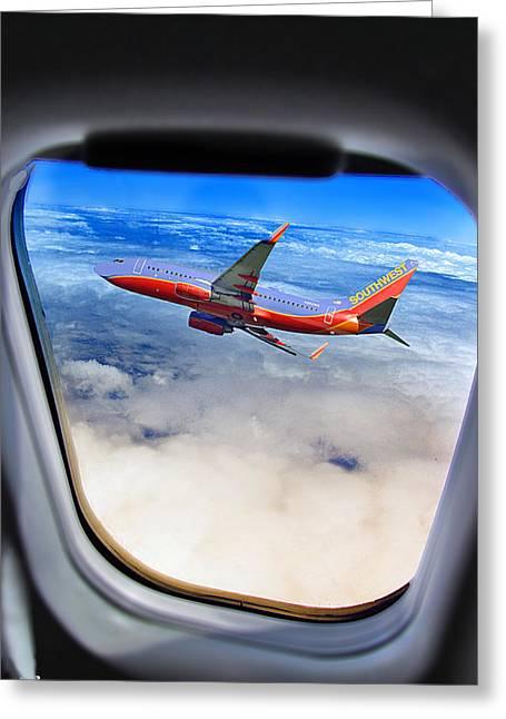 Air Miss Greeting Card by Lamyl Hammoudi