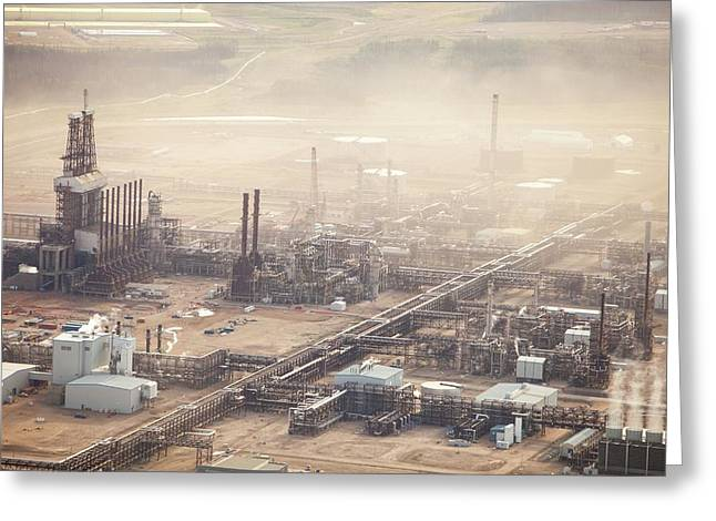 Air Pollution From Syncrude Tar Sands Greeting Card by Ashley Cooper