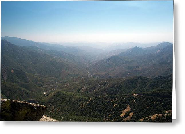 Air Pollution Over Sequoia National Park Greeting Card by Jim West