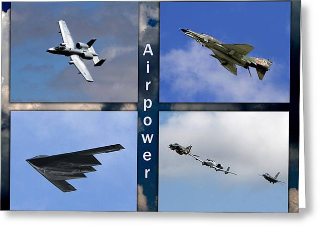 Greeting Card featuring the photograph Air Power by John Freidenberg