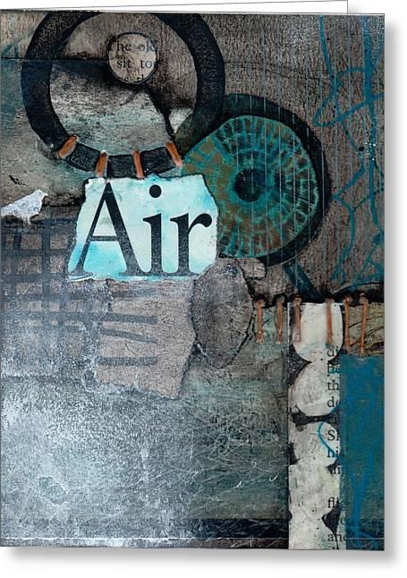 Air Sign  Greeting Card by Laura  Lein-Svencner