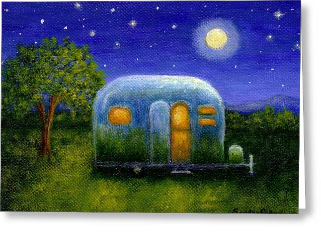 Airstream Camper Under The Stars Greeting Card