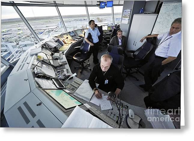 Air Traffic Control, Domodedovo Airport Greeting Card