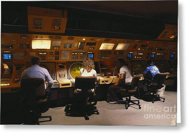 Air Traffic Controllers Greeting Card by Susan Leavines