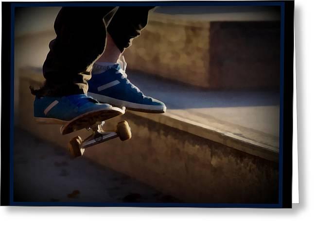 Airborne Skateboarder Greeting Card by Ernie Echols