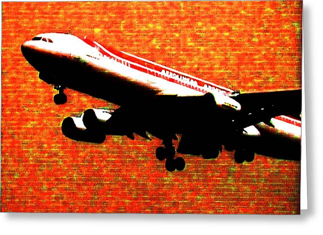 Airbus 340 Greeting Card by Marcello Cicchini