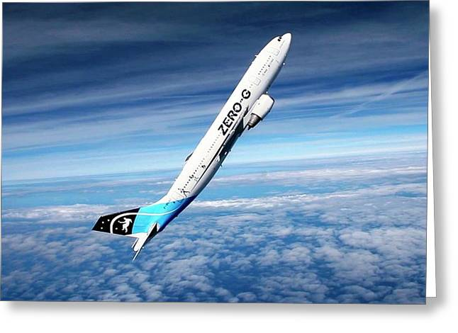 Airbus A300 Zero-gravity Plane Greeting Card by Novespace/cnes/dlr/esa