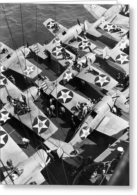 Aircraft Carrier Planes Reload Greeting Card