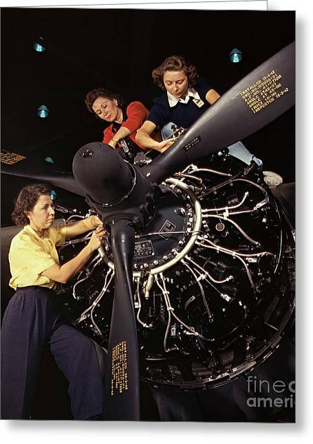Aircraft Engine Installation 1942 Greeting Card