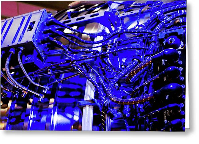 Aircraft Engine Wiring Loom. Greeting Card by Mark Williamson