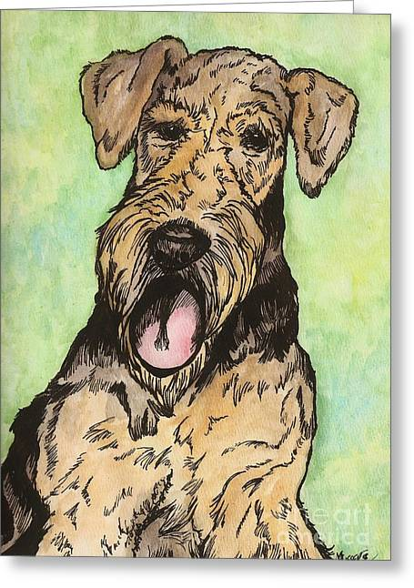 Airedale Ink Greeting Card