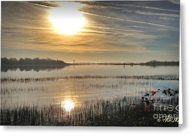 Greeting Card featuring the photograph Airlie Road Morning by Phil Mancuso
