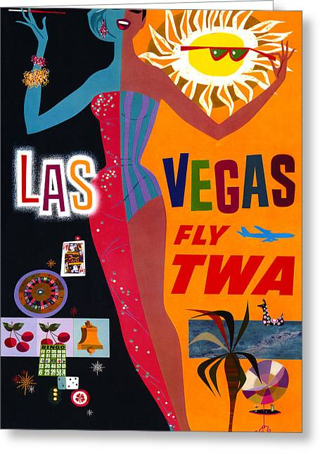 Airline Poster, C1962 Greeting Card