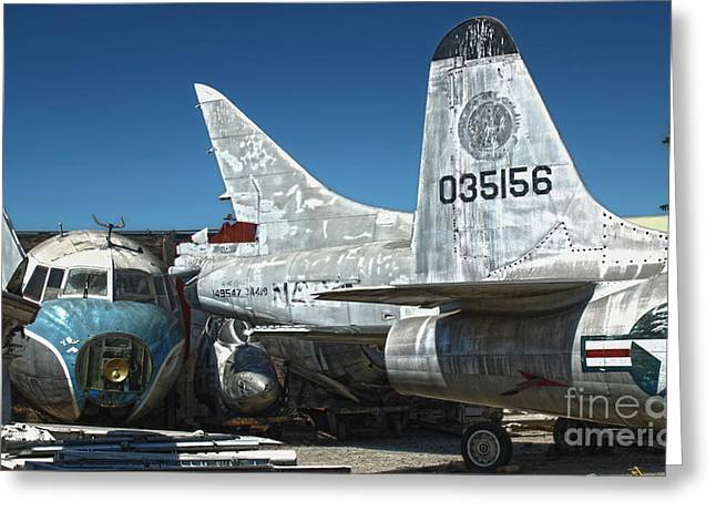 Airplane Graveyard - 19 Greeting Card by Gregory Dyer