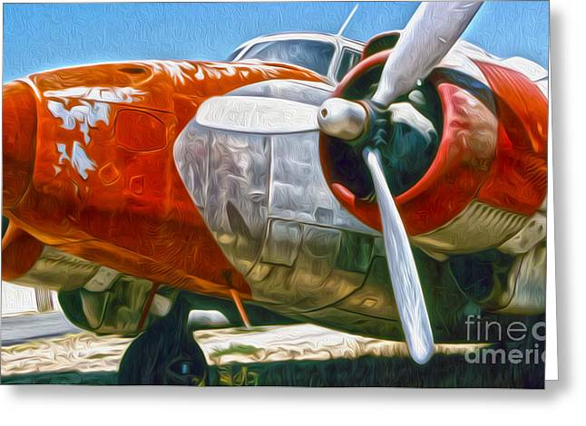 Airplane Graveyard - 21 Greeting Card by Gregory Dyer