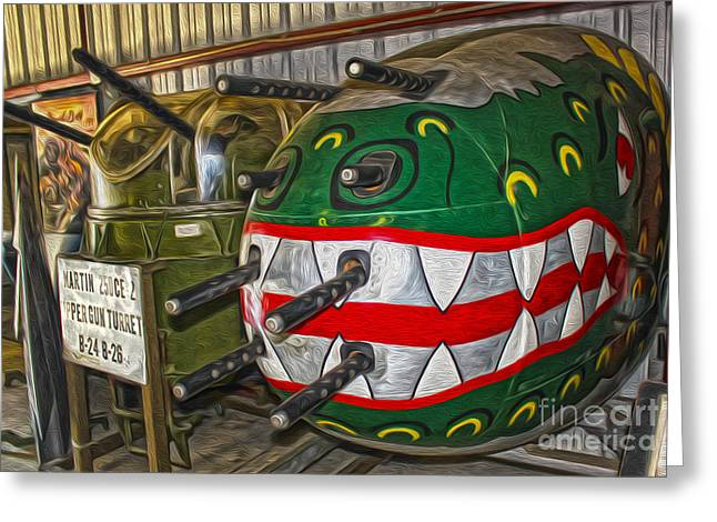Airplane Nose Gun Turret Greeting Card by Gregory Dyer