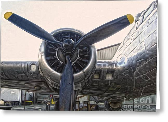 Airplane Propeller - 01 Greeting Card by Gregory Dyer