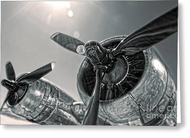 Airplane Propeller - 03 Greeting Card by Gregory Dyer