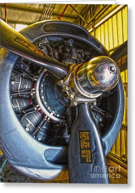 Airplane Propeller - 06 Greeting Card by Gregory Dyer