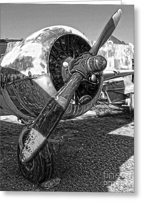 Airplane Propeller - 07 Greeting Card by Gregory Dyer