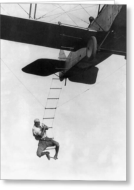Airplane Stunt Man, 1921 Greeting Card by Granger