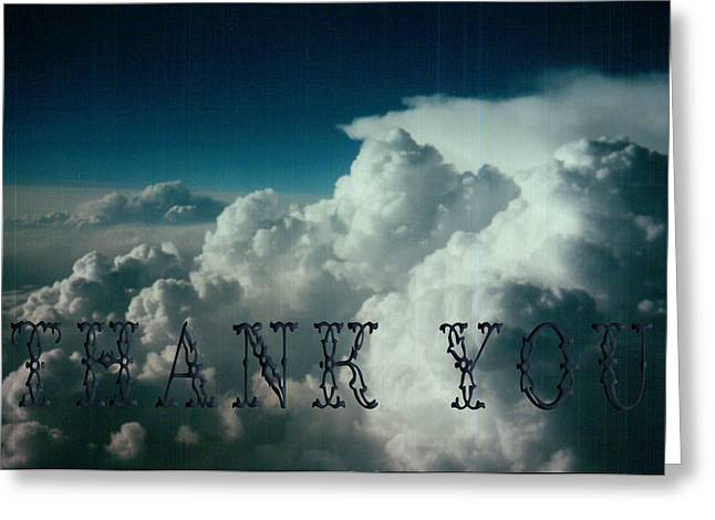 Airplane View  And A Reminder To Utter The Words Thank You. Greeting Card