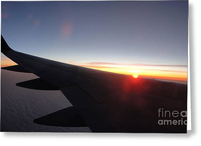 Airplane Wing - 01 Greeting Card by Gregory Dyer
