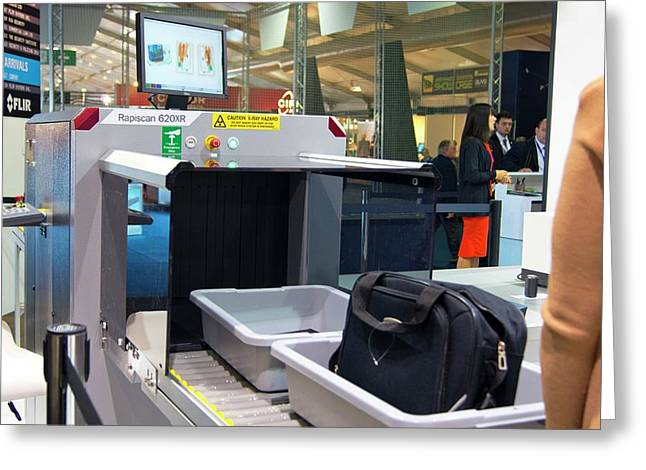 Airport Baggage X-ray Scanner. Greeting Card