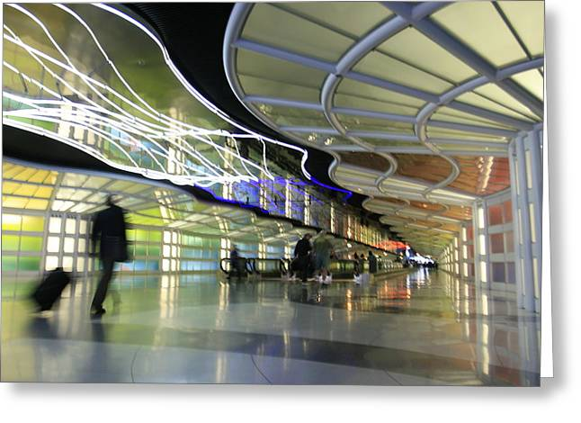 Greeting Card featuring the photograph Airport Rush by Kate Purdy