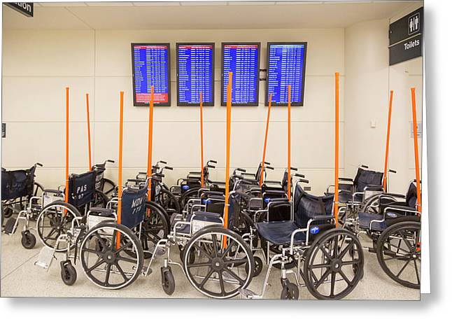 Airport Wheelchairs Greeting Card by Jim West