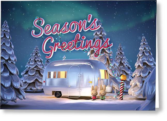 Airstream Greeting Card Greeting Card by Rick Thompson