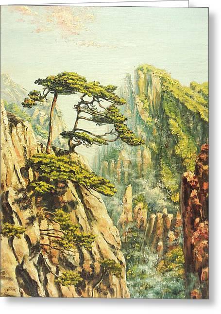 Airy Mountains Of China Greeting Card by Irina Sumanenkova