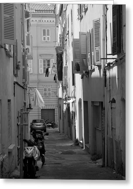 Ajaccio Back Alley Greeting Card