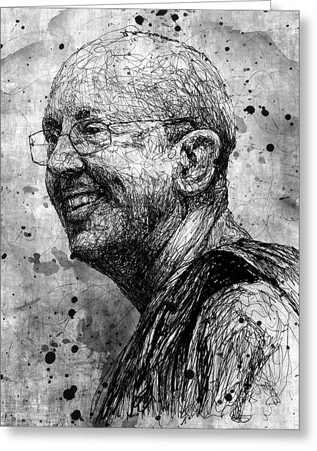 Ajahn Brahm Greeting Card by Michael  Volpicelli